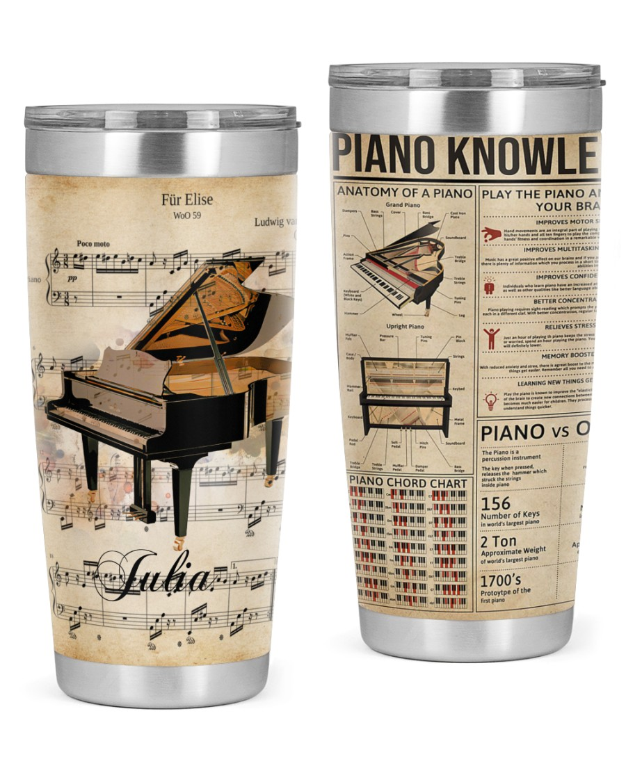 Piano Lovers Tumbler Personalized 20oz Tumbler