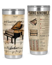 Piano Lovers Tumbler Personalized 20oz Tumbler front