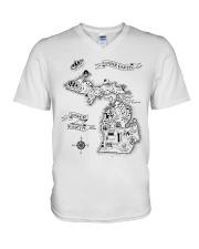 Upper Earth Lower Earth LOTR V-Neck T-Shirt thumbnail