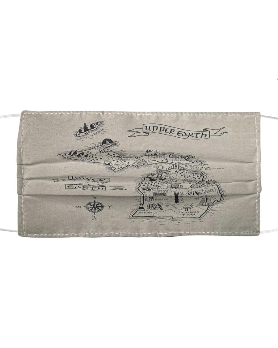 Upper Earth Lower Earth LOTR Cloth face mask