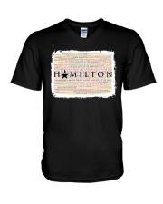 Hamilton 9 poster V-Neck T-Shirt thumbnail
