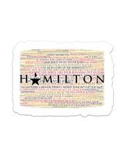 Hamilton 9 poster Sticker - Single (Horizontal) thumbnail