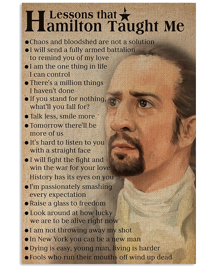 Hamilton lessons poster 2 11x17 Poster