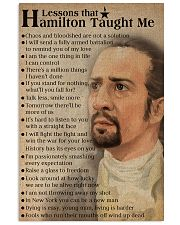 Hamilton lessons poster 2 11x17 Poster front