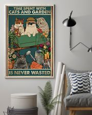 Time spent with cats and garden is never wasted 11x17 Poster lifestyle-poster-1
