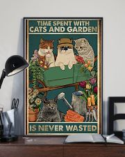 Time spent with cats and garden is never wasted 11x17 Poster lifestyle-poster-2