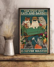 Time spent with cats and garden is never wasted 11x17 Poster lifestyle-poster-3