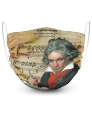 Moonlight Sonata Beethoven  2 Layer Face Mask - Single front