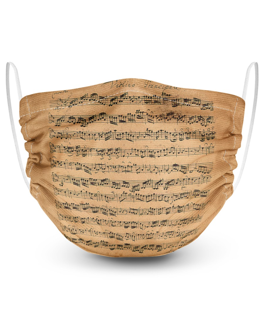 The Brandenburg Concertos Bach 2 Layer Face Mask - Single