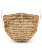The Brandenburg Concertos Bach 2 Layer Face Mask - Single front