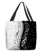 Black White Piano Music Note 2 All-over Tote thumbnail