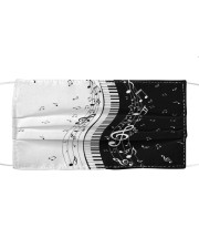 Black White Piano Music Note 2 Cloth face mask thumbnail