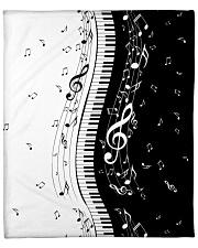 "Black White Piano Music Note 2 Fleece Blanket - 50"" x 60"" thumbnail"