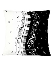 Black White Piano Music Note 2 Square Pillowcase thumbnail