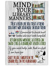 Library manners 11x17 Poster front