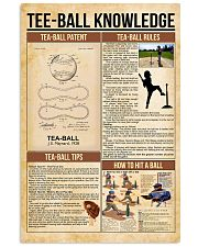 Tee-ball knowledge poster 11x17 Poster front