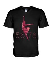 5 6 7 8 Polygonal style ballet V-Neck T-Shirt thumbnail