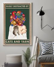 Easily distracted by cats and yarn 11x17 Poster lifestyle-poster-1
