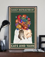 Easily distracted by cats and yarn 11x17 Poster lifestyle-poster-2