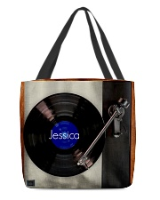Blue Vinyl Coaster Customized  All-Over Tote tile