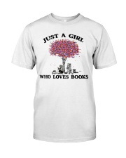 Just A Girl Who Loves Books Read Classic T-Shirt tile