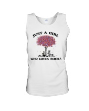 Just A Girl Who Loves Books Read Unisex Tank thumbnail