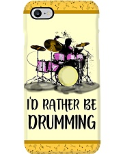 Id Rather Be Drumming Phone Case tile