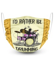 Id Rather Be Drumming 2 Layer Face Mask - Single front