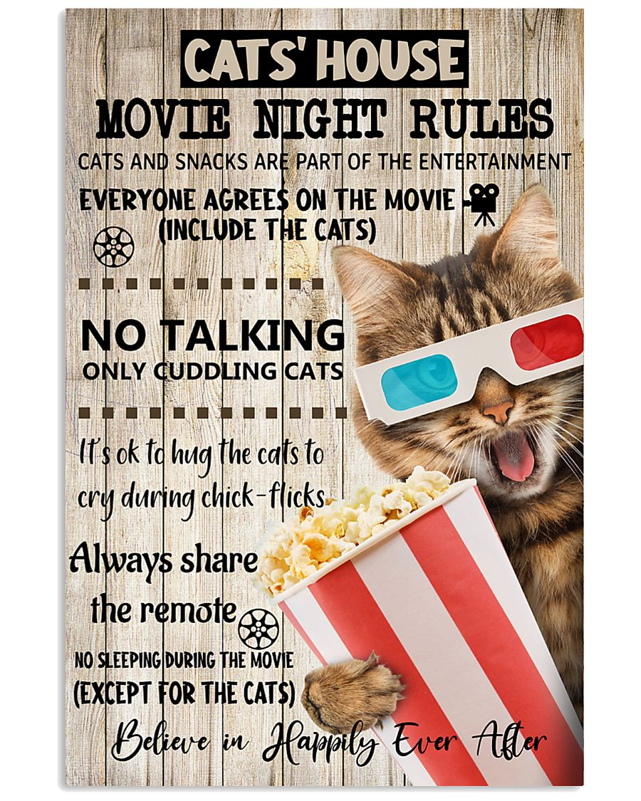 Movie night rules poster 11x17 Poster