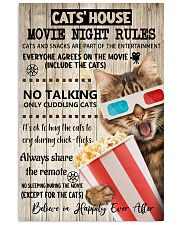 Movie night rules poster 11x17 Poster front