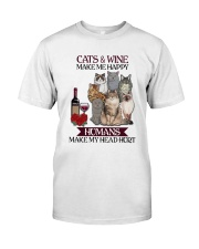 Cats wine make Classic T-Shirt tile