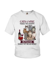 Cats wine make Youth T-Shirt tile