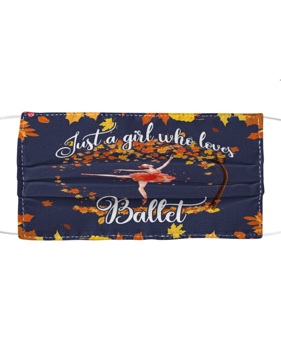 Ballet autumn Cloth face mask