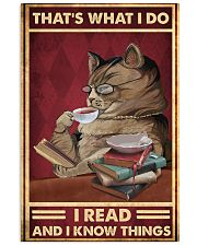 That's what I do I read and I know things poster 11x17 Poster front
