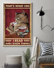That's what I do I read and I know things poster 11x17 Poster lifestyle-poster-1