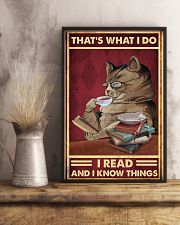 That's what I do I read and I know things poster 11x17 Poster lifestyle-poster-3