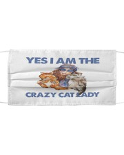 Yes Im the crazy cat lady Cloth face mask thumbnail
