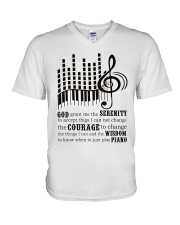 Piano Player V-Neck T-Shirt thumbnail