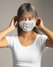 She works willingly with her hands Cloth face mask aos-face-mask-lifestyle-16