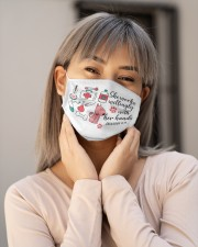 She works willingly with her hands Cloth face mask aos-face-mask-lifestyle-17