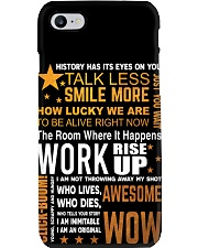 Hamilton quote poster Phone Case tile