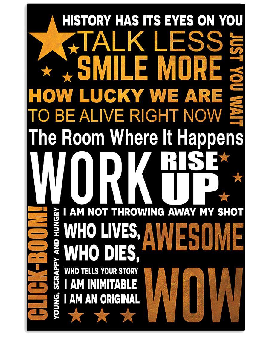Hamilton quote poster 11x17 Poster