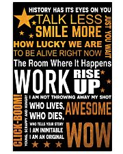 Hamilton quote poster 11x17 Poster front
