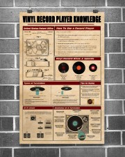 Vinyl Record Player Knowledge Poster 11x17 Poster aos-poster-portrait-11x17-lifestyle-18