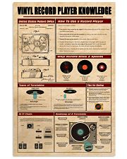 Vinyl Record Player Knowledge Poster 11x17 Poster front