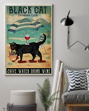 Black cat drinking club 11x17 Poster lifestyle-poster-1