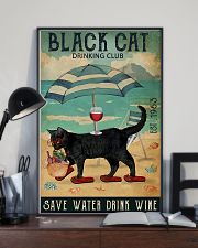 Black cat drinking club 11x17 Poster lifestyle-poster-2