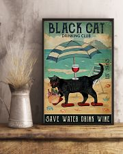 Black cat drinking club 11x17 Poster lifestyle-poster-3