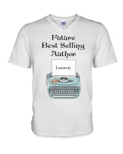 Best Selling Author personalized V-Neck T-Shirt thumbnail