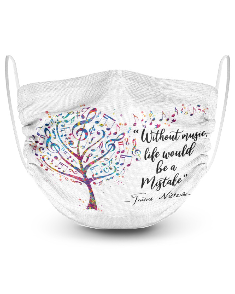Without Music 2 Layer Face Mask - Single